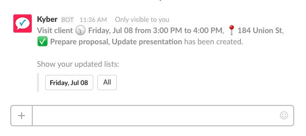 criação de eventos de calendário